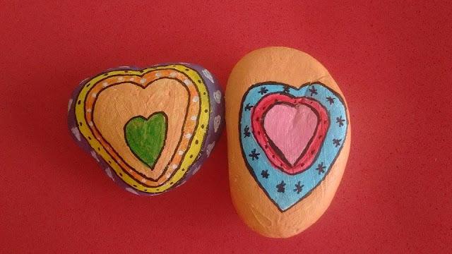 piedras pintadas-san valentin-amor