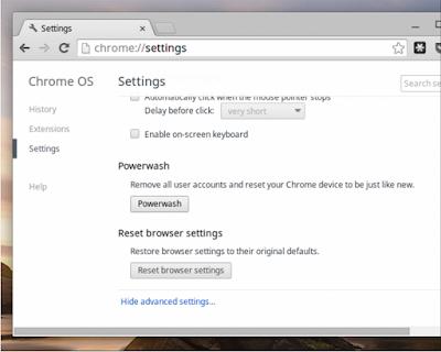 Cara Reset Chromebook Ke Pengaturan Pabrik