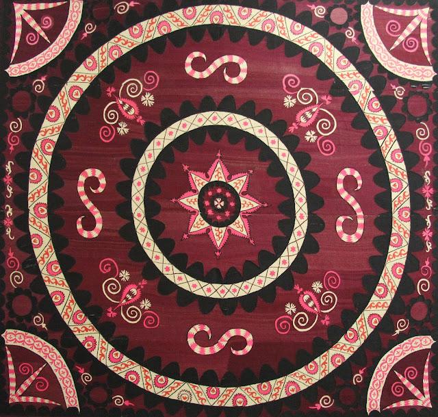 Ouzbékistan, Tachkent, Musée National des Beaux Arts, Oypalak, soie, broderie, © L. Gigout, 2012