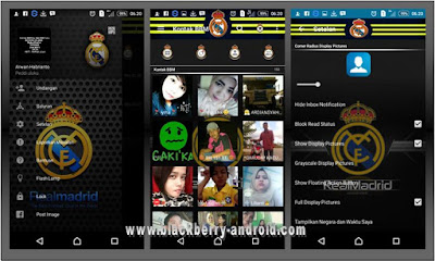 BBM Real Madrid Black Themes New V.2.12.0.11 APK