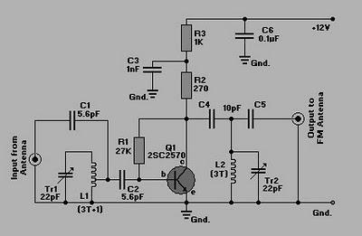 ELECTRONIC SCHEMATIC DIAGRAM | WIRING DIAGRAM | CIRCUIT DIAGRAM RESOURCES: BOOSTER RADIO FM