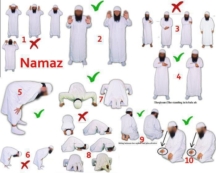 How To Pray Salah Namaaz And Its Posture Step By Step The