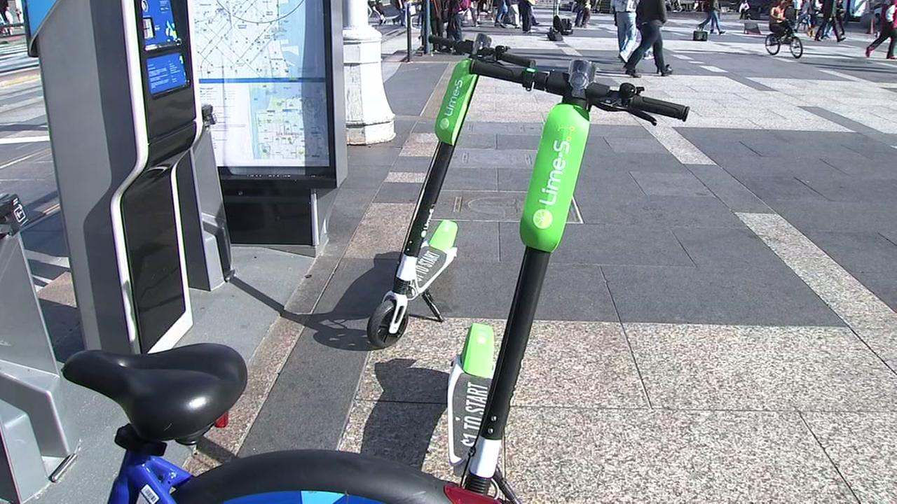 Lime lets people hire scooters, electric bikes and pedal cycles