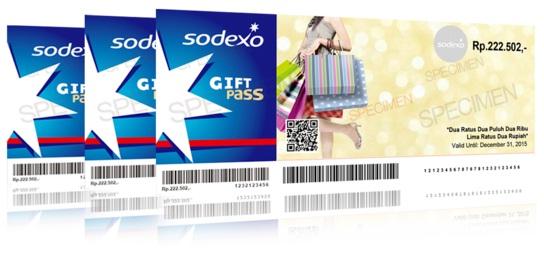 Voucher belanja Sodexo Gift Pass