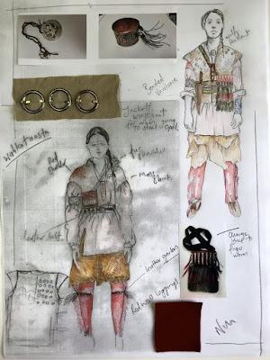 Vestuario de Wahkatiiosta en el 4x13 de Outlander