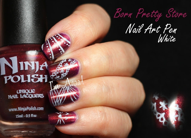 Review Born Pretty Store Crayon Nail Art Blanc