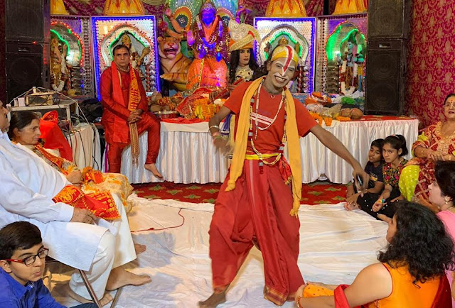 Grand meeting of the mother's post at the holy festival of Sri Ramnavami in Faridabad.