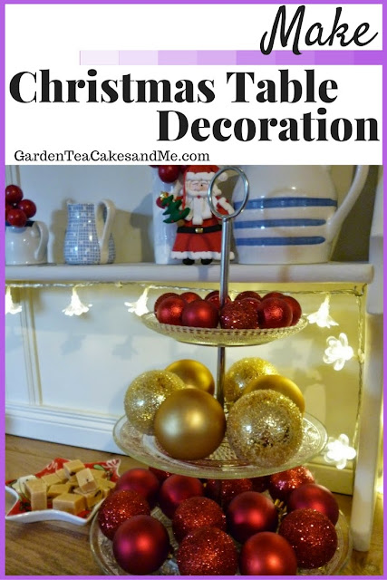 Christmas Table Decoration idea inspiration Christmas crafts baubles