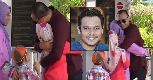 Azri AF Dibebaskan Dari Penjara, Anak Peluk Erat
