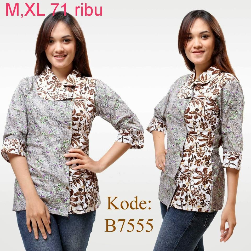 Baju Batik Guru Perempuan: Model Baju Atasan Batik Wanita Modern