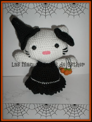 amigurumi bruja hello kitty