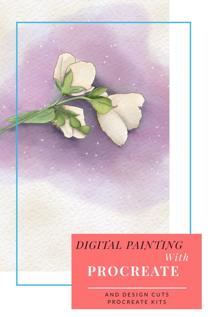 Making watercolour digital paintings in procreate, with DesignCuts procreate kits- Rachel Gillham Art  IHow I can art on the go!