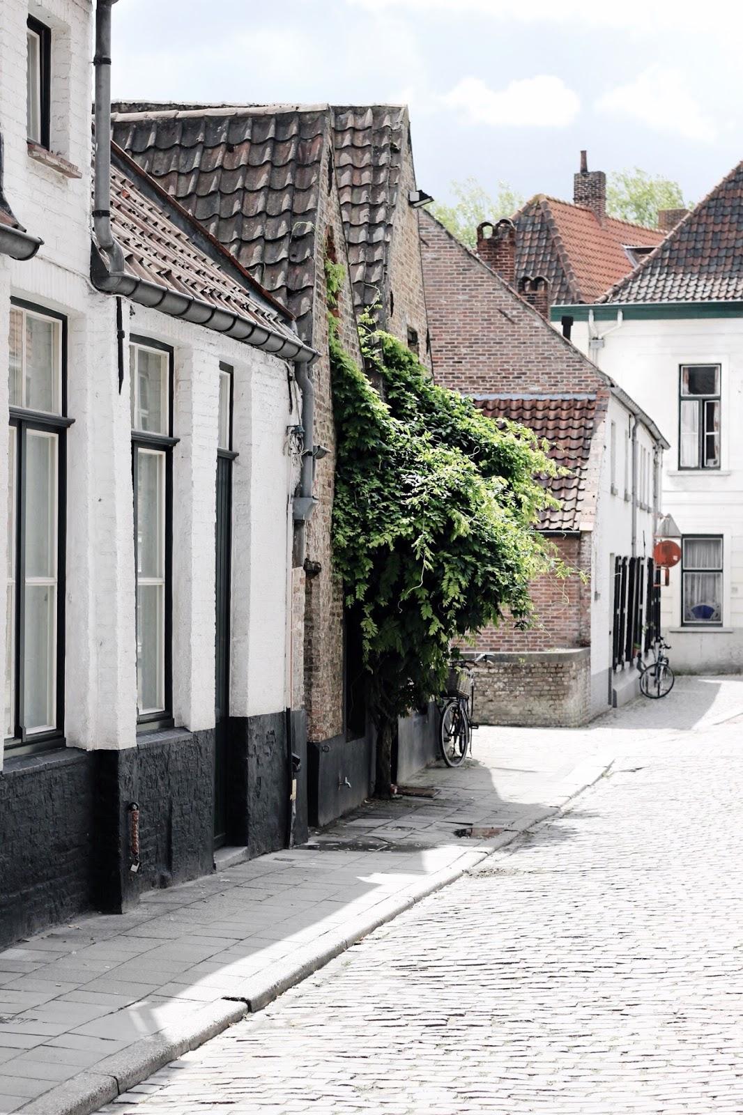 White Buildings in Bruges Belgium