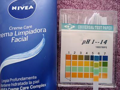 pH de Crema limpiadora facial Creme Care de Nivea