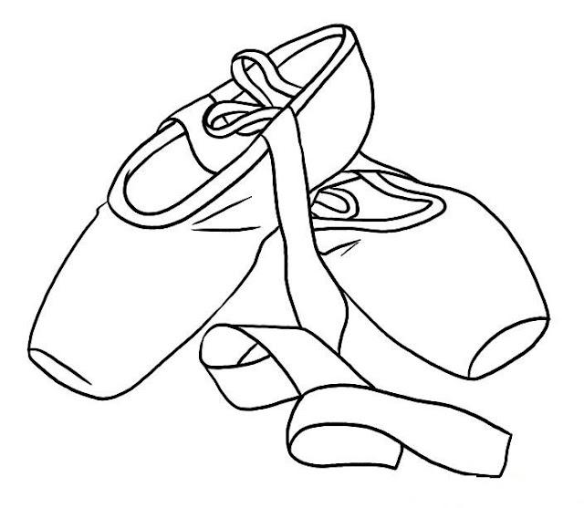 dibujo de zapatilla de baile para colorear
