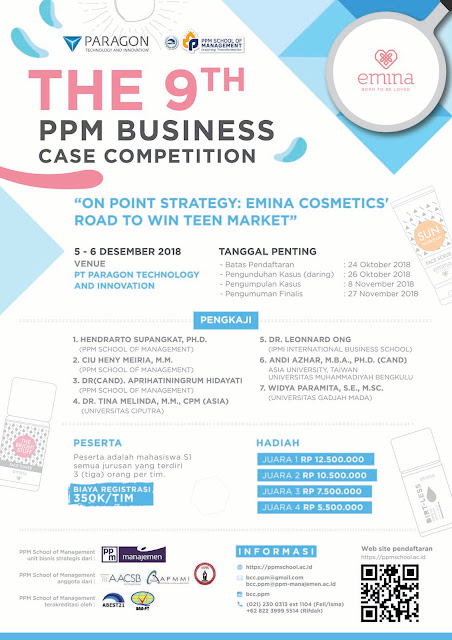 Contest PPM Business Case Competition 2018