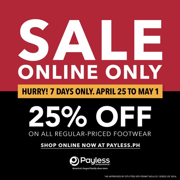 5a26d58cb Payless Shoesource 25% off until May 1 2016