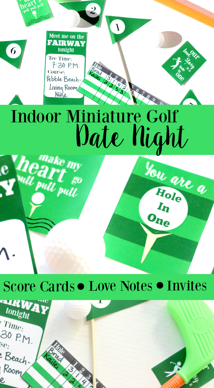 Date Night Idea, Indoor Mini Golf, Stay at home date
