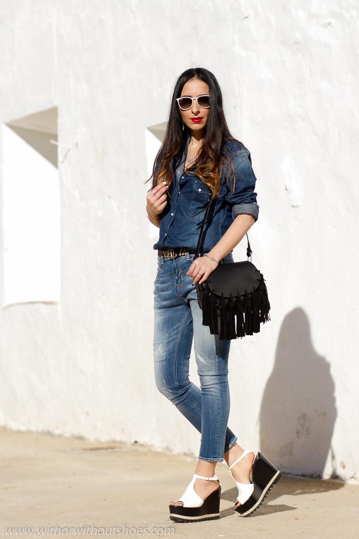 Influencer instagramer de moda de valencia con look comodo casual