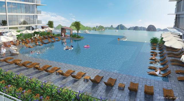 Bể bơi vô cực dự án Mon Bay Hạ Long