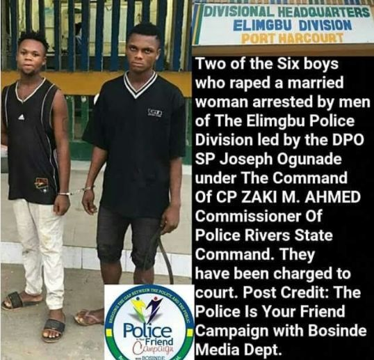 Police Arrest Guys Who R*ped A Married Woman In Rivers