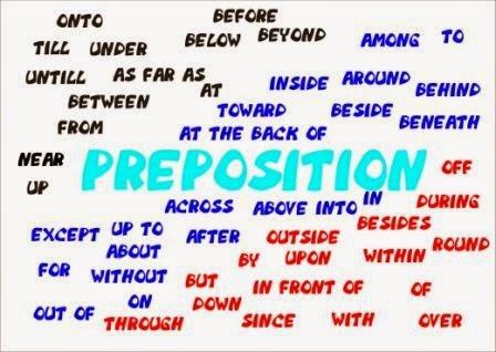 pengertian kata depan / preposition