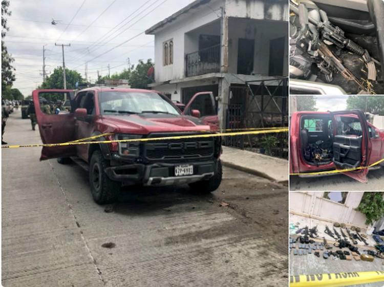 Golpe al CDN en Tamaulipas, aseguran armas, barret y uniformes clonados tipo Militar
