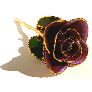 Purple Lacquer Gold Trimmed Rose