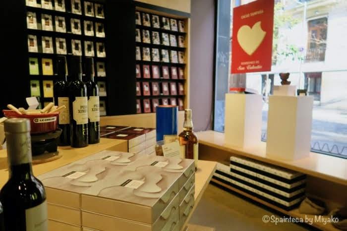 スペイン発チョコレート専門店カカオ・サンパカのマドリード店の店内