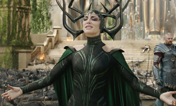 Cate Blanchett as the Goddess of Death, Hela in THOR: RAGNAROK (2017)
