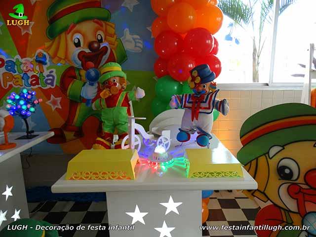 Mesa temática Patatí Patatá - Festa de aniversário infantil