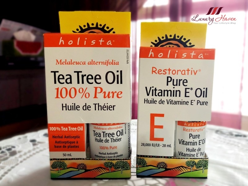 reduce scar holista vitamin e oil tea tree
