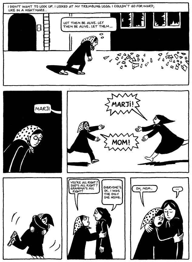 Read Chapter 18 - The Shabbat, page 138, from Marjane Satrapi's Persepolis 1 - The Story of a Childhood