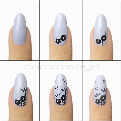 jak namalować kwiaty na paznokciach