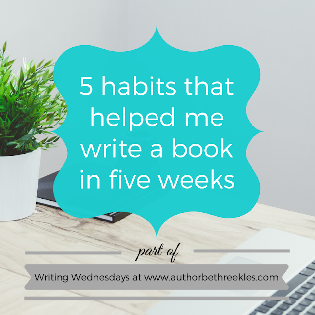 This year I managed to write a 75,000 word first draft in just five weeks. In this post, I talk about some of the writing habits and hacks that helped me do that.