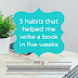 Writing Wednesdays: 5 habits that helped me write a book in five weeks