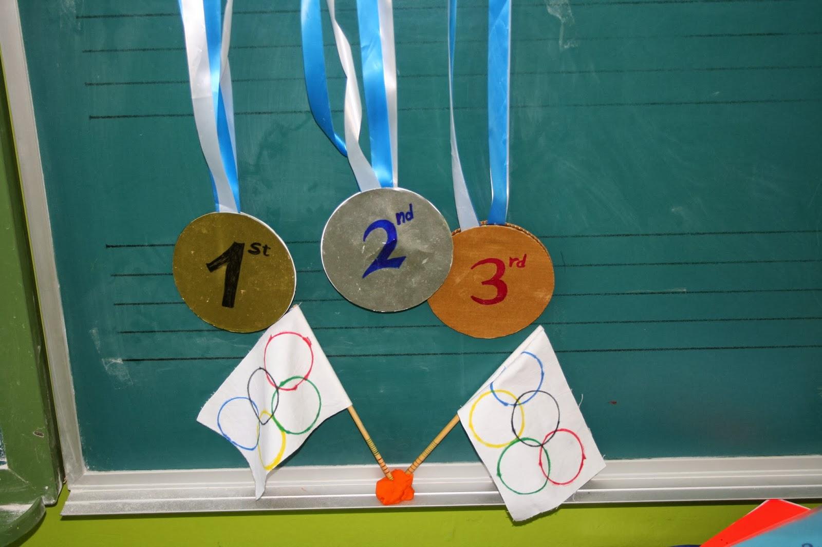Medallas de Olimpiadas de Papa e hijo