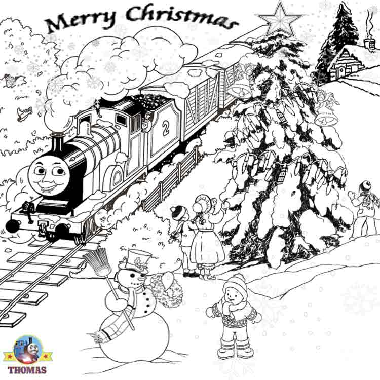 printable christmas train coloring pages - photo#21