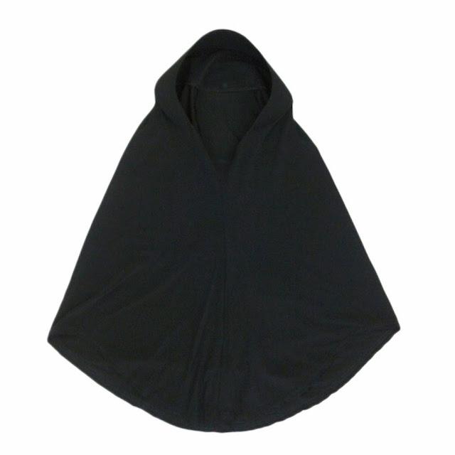 tudung natasha hitam untuk ko-kurikulum pelajar perempuan sekolah