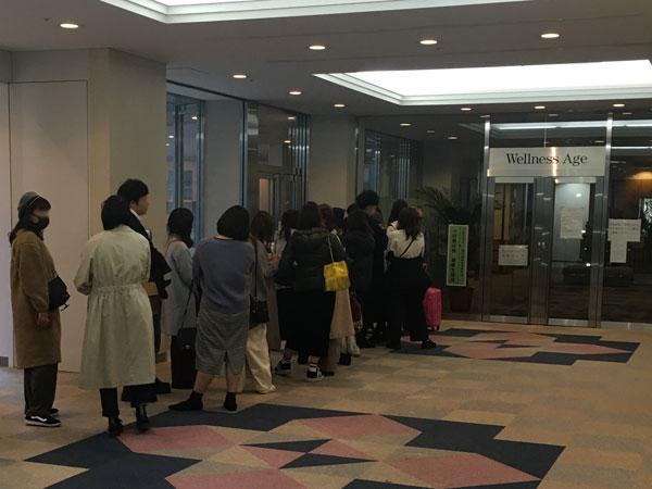 新宿の健康プラザハイジアビル4階にある本格和食カフェ『No.13cafe(サーティーンカフェ)』にできた行列