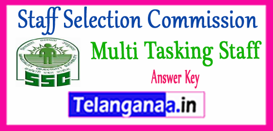 SSC MTS Staff Selection Commission Multi Tasking Staff Answer Key 2017  Expected Cutoff