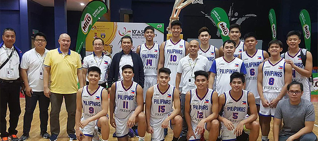 Philippines def. Brunei, 142-19 (ASEAN School Games 2018) July 22