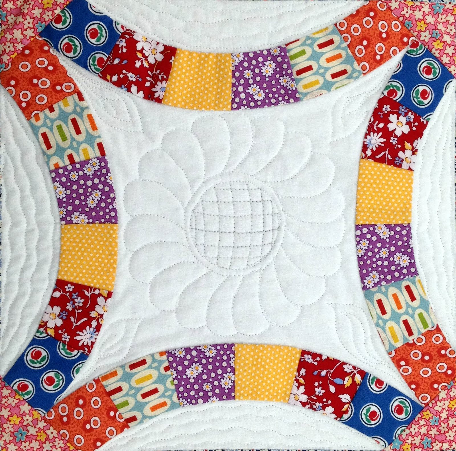 Starwood Quilter Double Wedding Ring Quilt Block and What s on