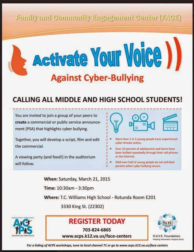 NoVa STEM Education Network: Cyberbullying PSA event for MS and HS