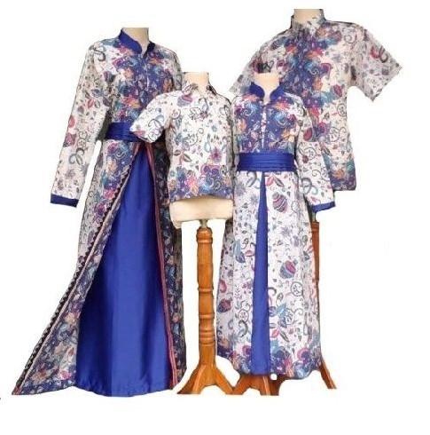 10 Model Baju Batik Couple Keluarga Trend Terbaru 2017