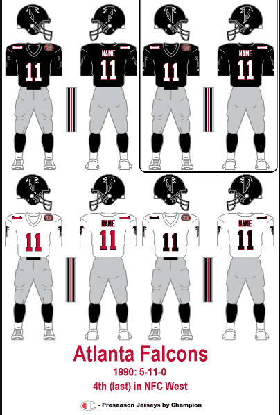new product 95678 e075e The Gridiron Uniform Database: The Atlanta Falcons Uniform ...