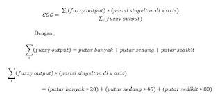 rumus fungsi COG dari fungsi singelton yang diterapkan