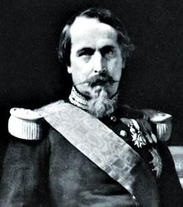 Napoleón III, detalle de un retrato de Hippolyte Flandrin