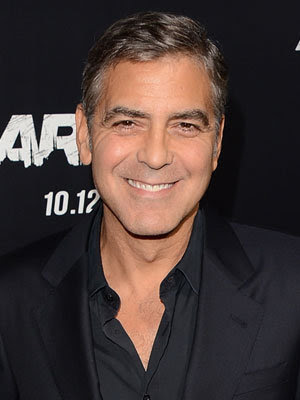 George Clooney doesn't agree with men getting plastic surgery.