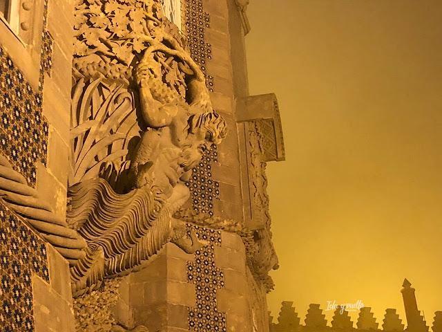Palacio da Pena de noche